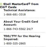 Shell mastercard from citi cards
