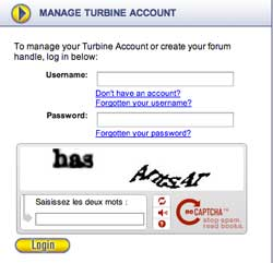 Manage Turbine account