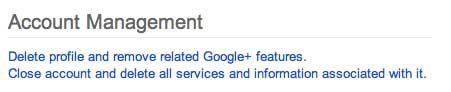 close Google account