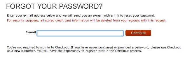 Nordstrom password