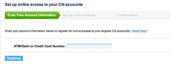 Register your Citicard