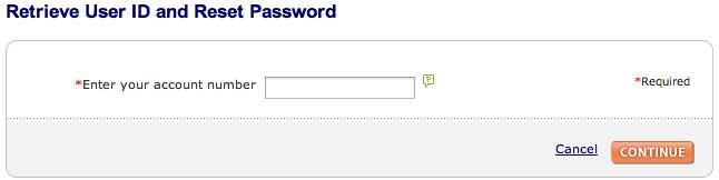 Sears account password