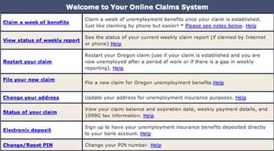 Online claim Oregon