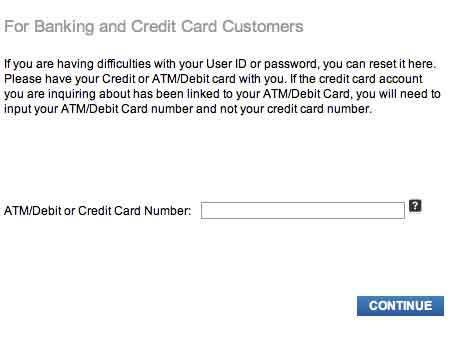 Reset your Citibank password