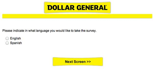 Survey Dollar General