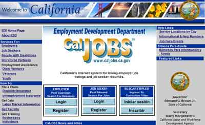 Job seekers on www.caljobs.ca.gov