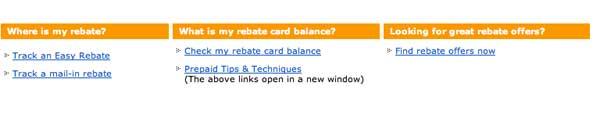 Rebate Card Balance