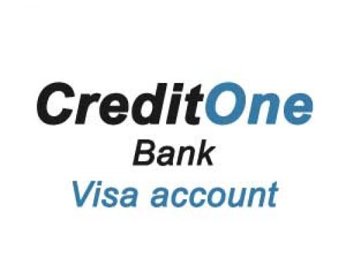 Get your Credit One Bank Visa account on www.creditonebank.com