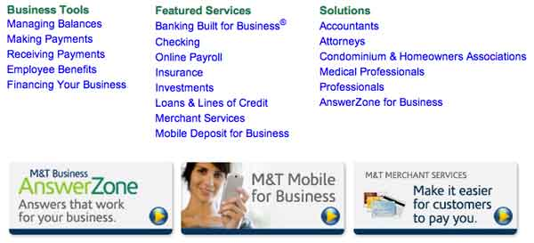 Business services M&T