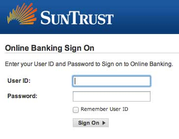 Login Sun Trust account