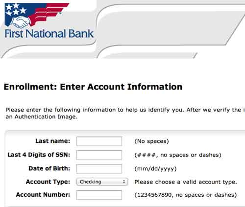Register FNB bank account