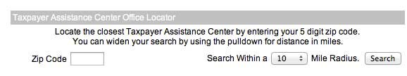 IRS Office Locator