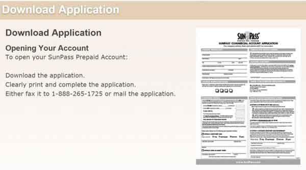 Sunpass application