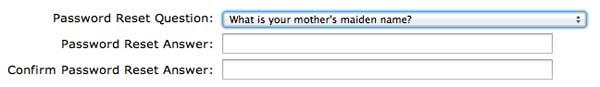 Password reset question