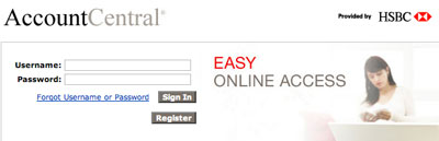 Login for HSBC Account Central | Registration & Password Recovery