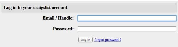 forgot Craiglist password