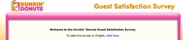 Dunkin guest satisfaction