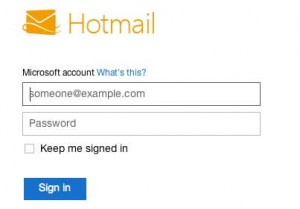 Hotmail account sign-in