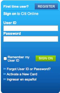 Login Citicard account