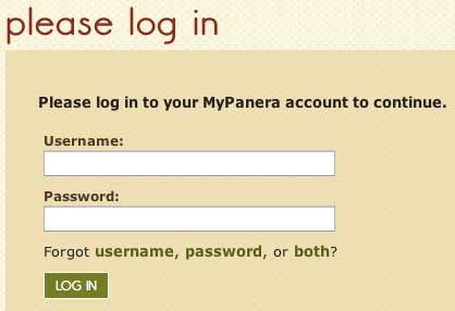 login Mypanera