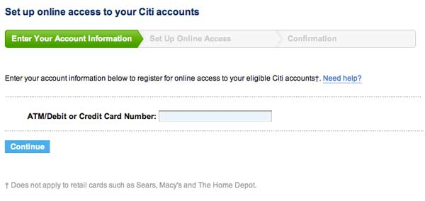 Create your account online
