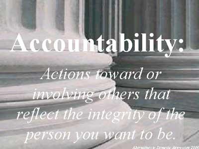 Definition accountability