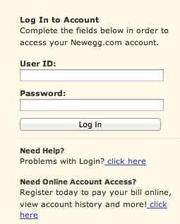 Login preferred account
