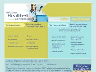 Health e arizona homepage