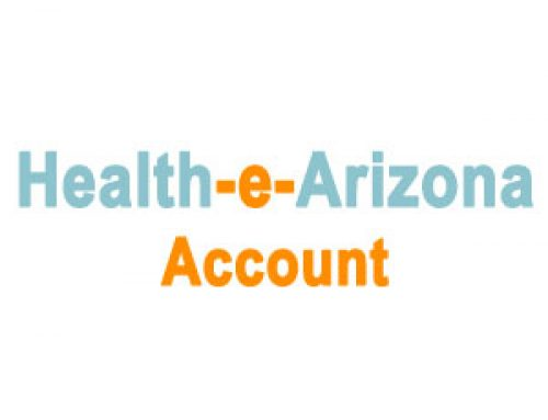 Health-e-Arizona Account on www.healthearizona.org