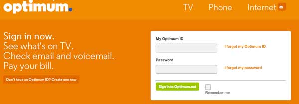 My Optimum Online Account Registration on www optonline net