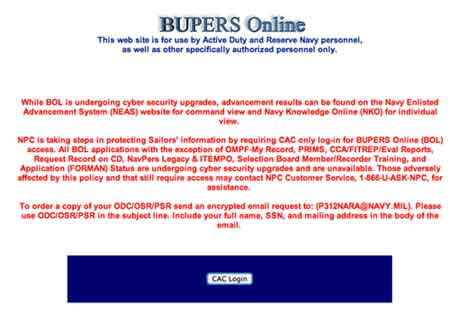 Bupers login
