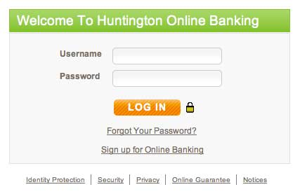Login Huntington online banking
