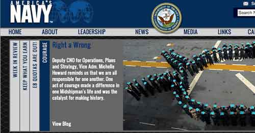 Navy home page