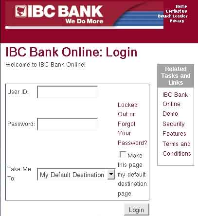 Sign Up for IBC Online Banking Free Account