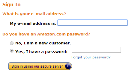 Login to your Amazon account