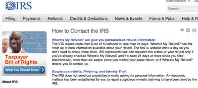 Contact IRS
