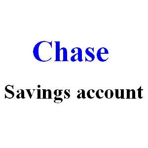 Chase savings account