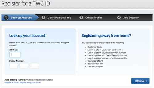 Register TWC ID