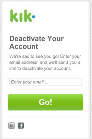 kik deactivation