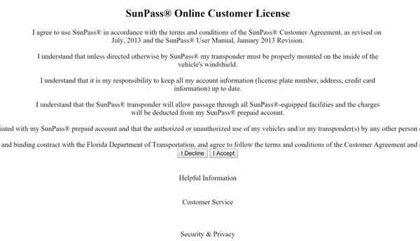 Sunpass transponder